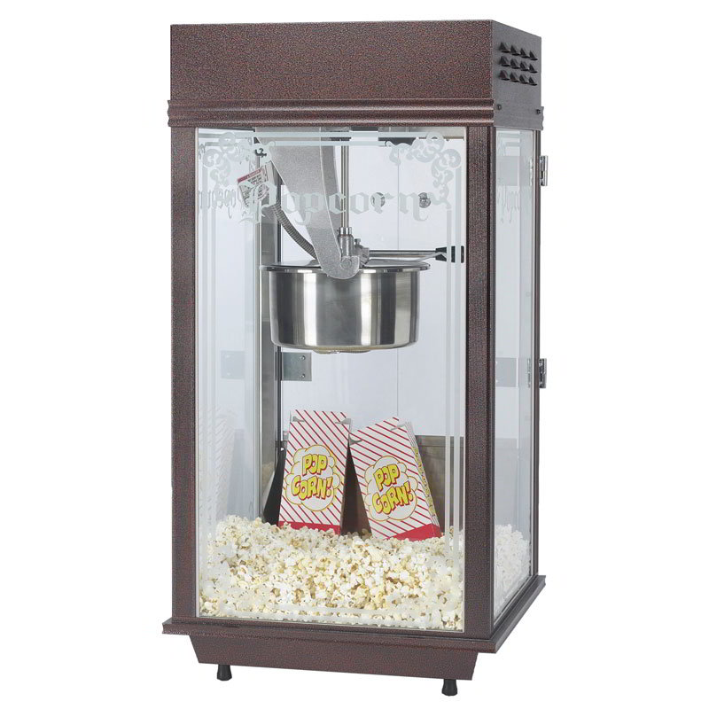 Gold Medal 2212 120240 Mega Pop Popcorn Machine w/ 250-oz/hr Capacity & Copper Vein Finish, 120/240V