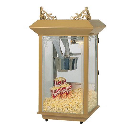 Gold Medal 2213 120240 Popcorn Machine, 12/14-oz Kettle, Antique Brass Finish, 120/240 V