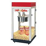 Gold Medal 2214 120208 Red Top-12 Popcorn Machine w/ 14-oz Kettle & Red Powder Dome, 120/208V