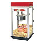 Gold Medal 2214 120240 Red Top-12 Popcorn Machine w/ 14-oz Kettle & Red Powder Dome, 120/240V