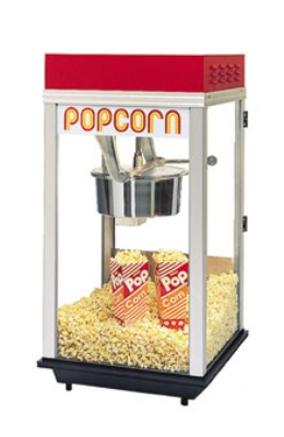 Gold Medal 2214ST 120240 Red Top-12 Popcorn Machine w/ 14-oz Kettle & Stainless Dome, 120/240V