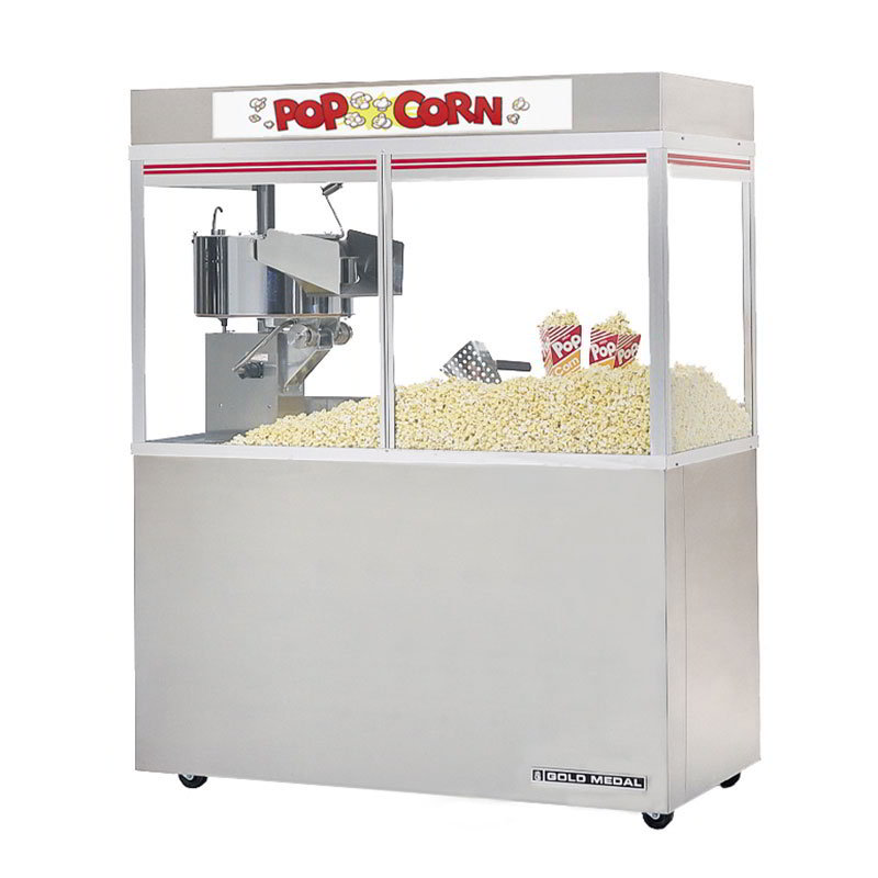 "Gold Medal 2228ED 120208 Cornado Popcorn Bar w/ 48-oz Kettle & 48"" Enclosed Cabinet, 120/208V"