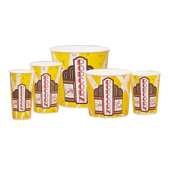 Gold Medal 2230 130-oz Premier Design Disposable Popcorn Cups, 150/Case