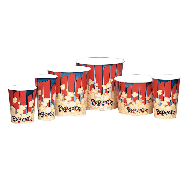 Gold Medal 2230RB 130-oz Red Disposable Popcorn Cups, 300/Case