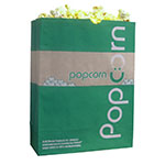 Gold Medal 2232E 130-oz EcoSelect Natural Fiber Paper Disposable Popcorn Bags, 500/Case