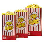 Gold Medal 2232SP 130-oz Disposable Popcorn Bags - Red & White, Laminated, 500/Case