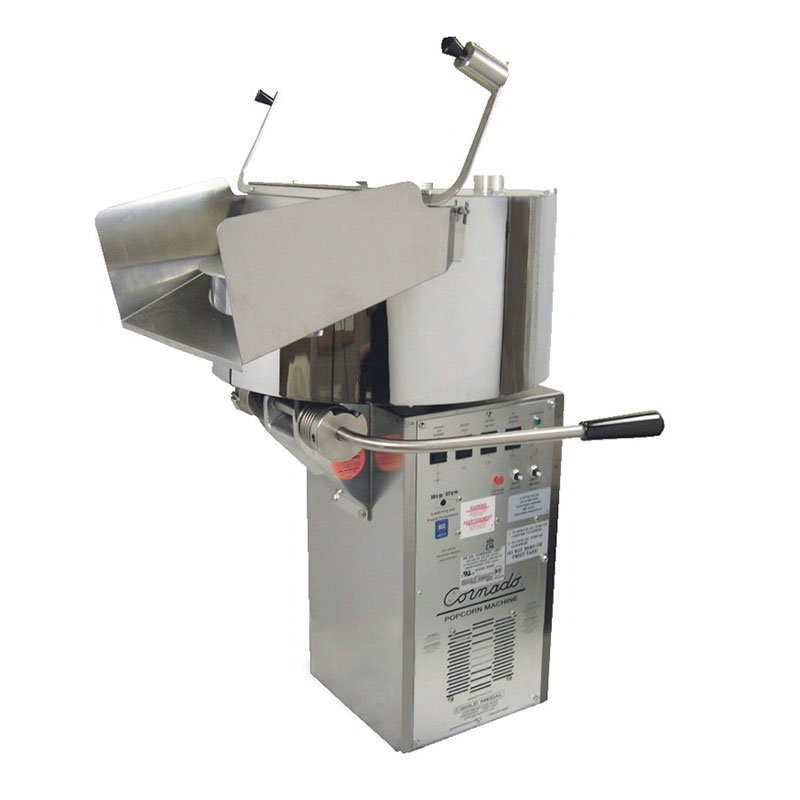 Gold Medal 2258E 120208 Cornado Popping Unit w/ 10-gal/3-min Capacity & Right Hand Dump, 120/208V