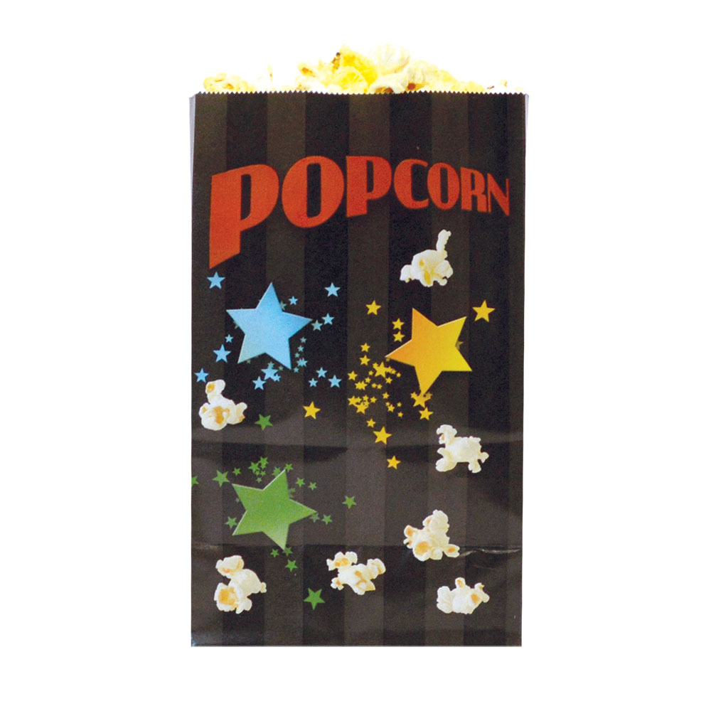 Gold Medal 2259B 32-oz Funburst Design Disposable Popcorn Bags, Laminated, 1,000/Case