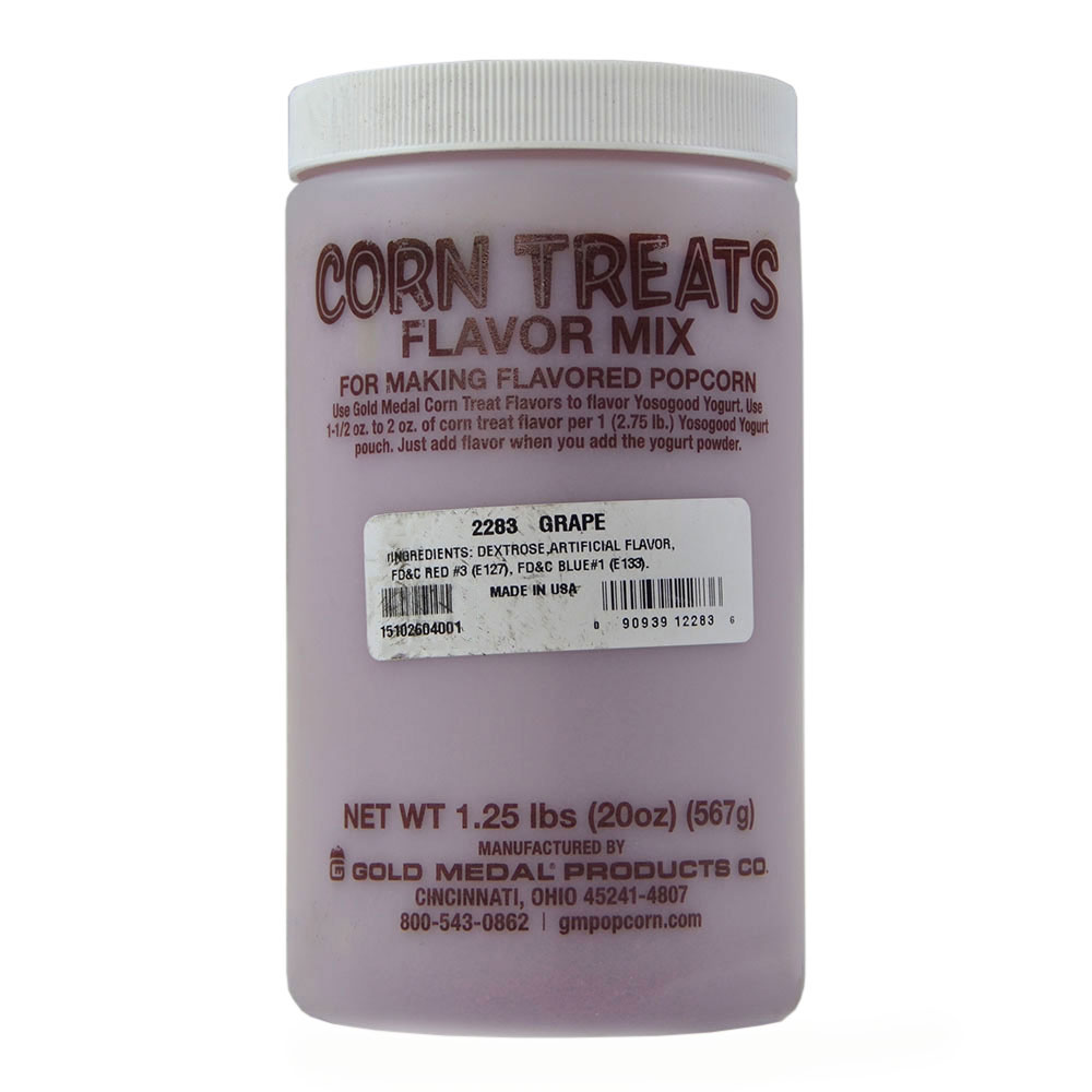 Gold Medal 2283 Candy Glaze Corn Treat Flavor Mixes, Grape