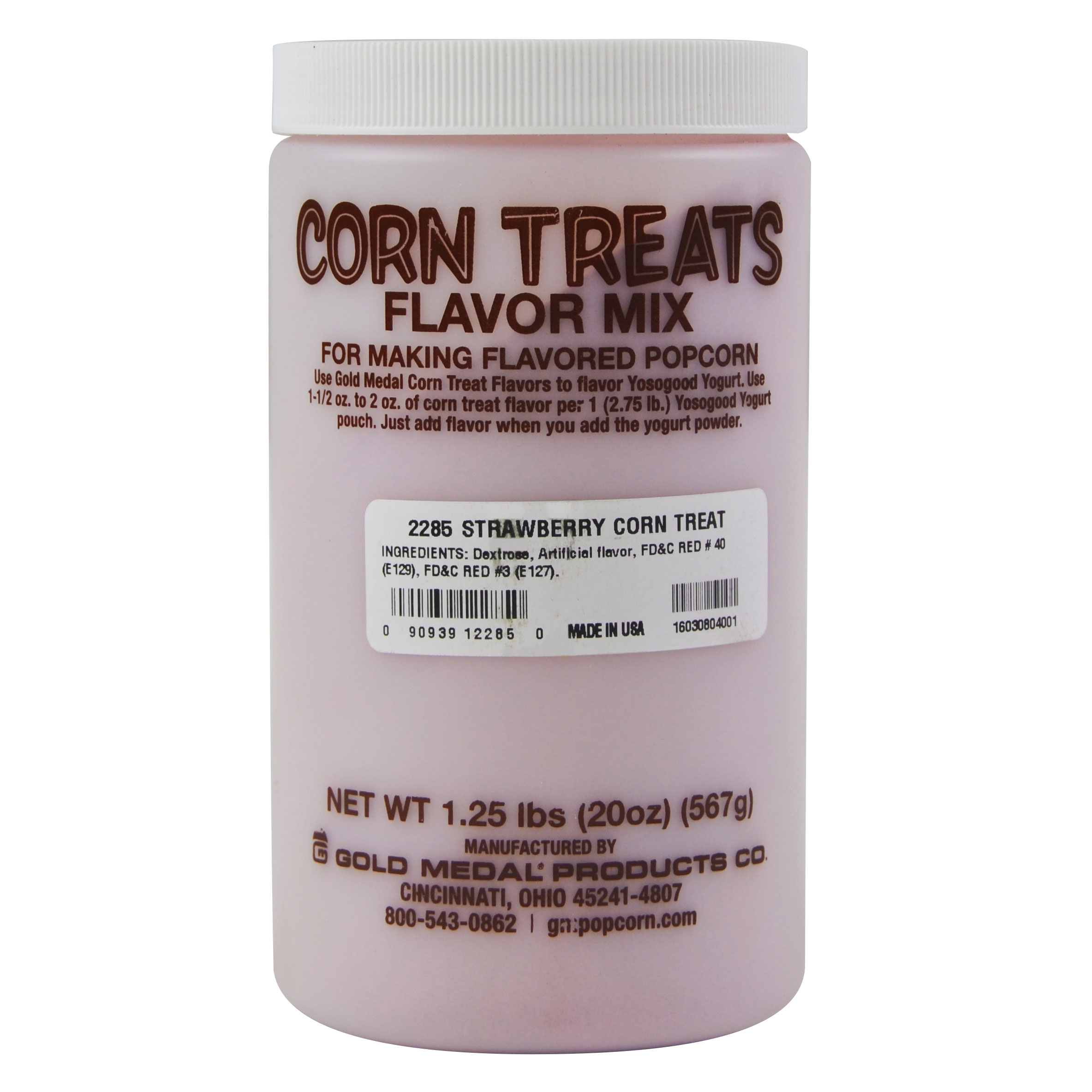 Gold Medal 2285 Candy Glaze Corn Treat Flavor Mixes, Strawberry