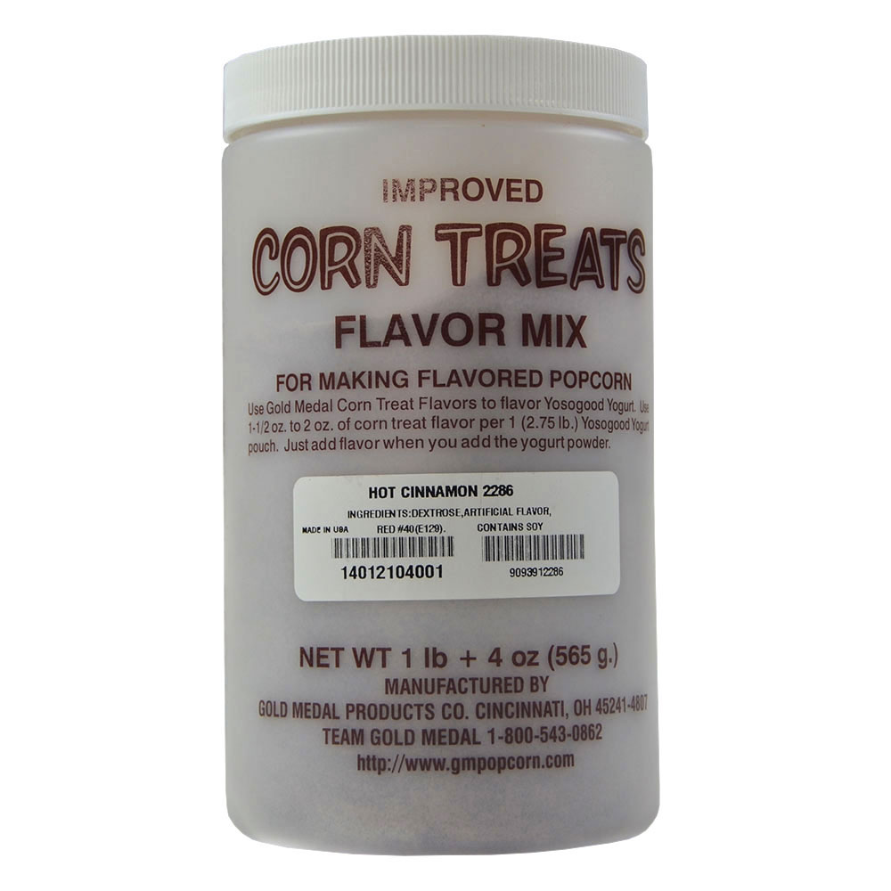 Gold Medal 2286 Candy Glaze Corn Treat Flavor Mixes, Red Cinnamon