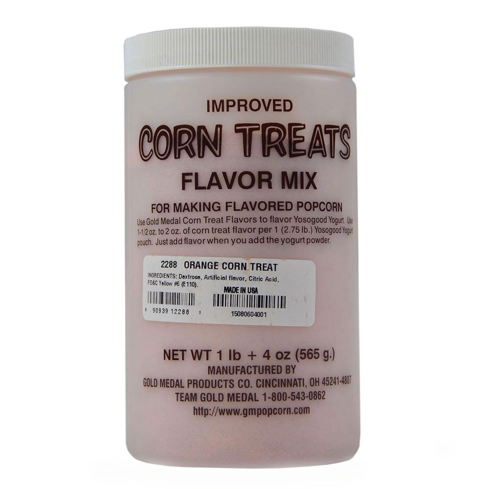 Gold Medal 2288 Candy Glaze Corn Treat Flavor Mixes, Orange