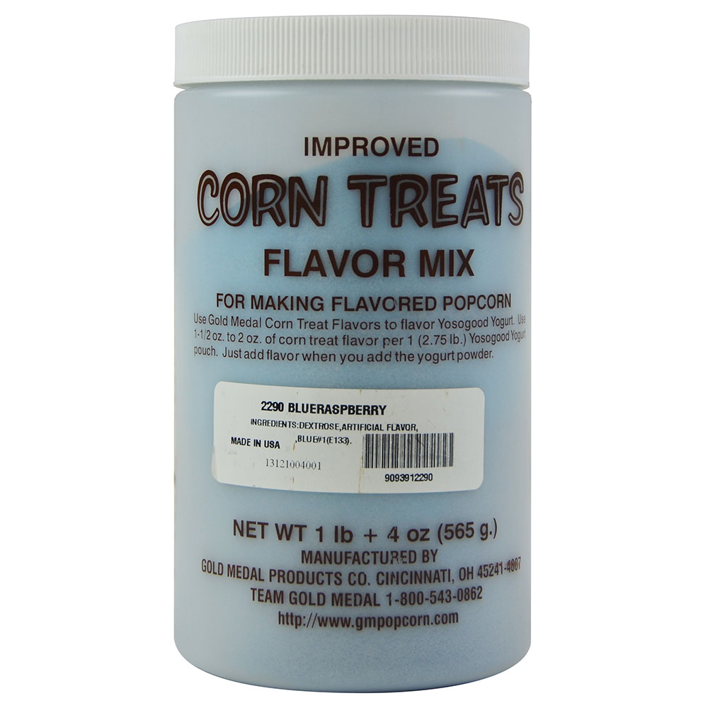 Gold Medal 2290 Candy Glaze Corn Treat Flavor Mixes, Blue Raspberry