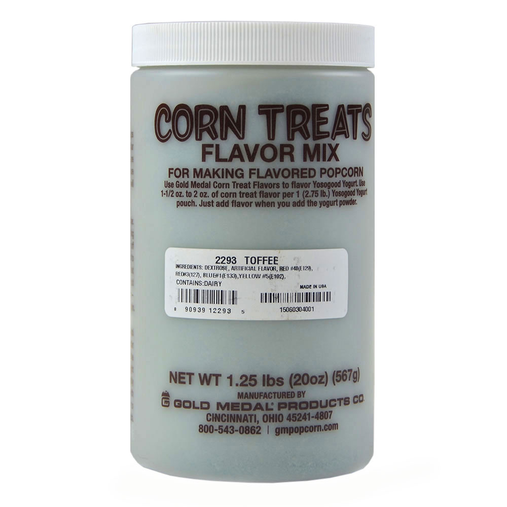 Gold Medal 2293 Candy Glaze Corn Treat Flavor Mixes, Toffee
