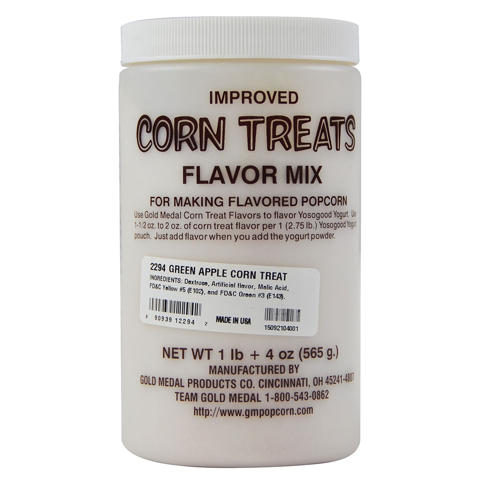 Gold Medal 2294 Candy Glaze Corn Treat Flavor Mixes, Green Apple