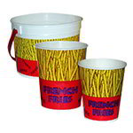 Gold Medal 2303 48-oz Plastic French Fry Bucket, 300/Case