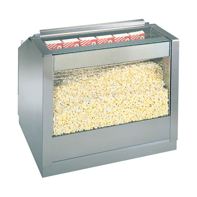 "Gold Medal 2345 48"" Front Counter Staging Cabinet w/ Twin Popcorn Crisping System"