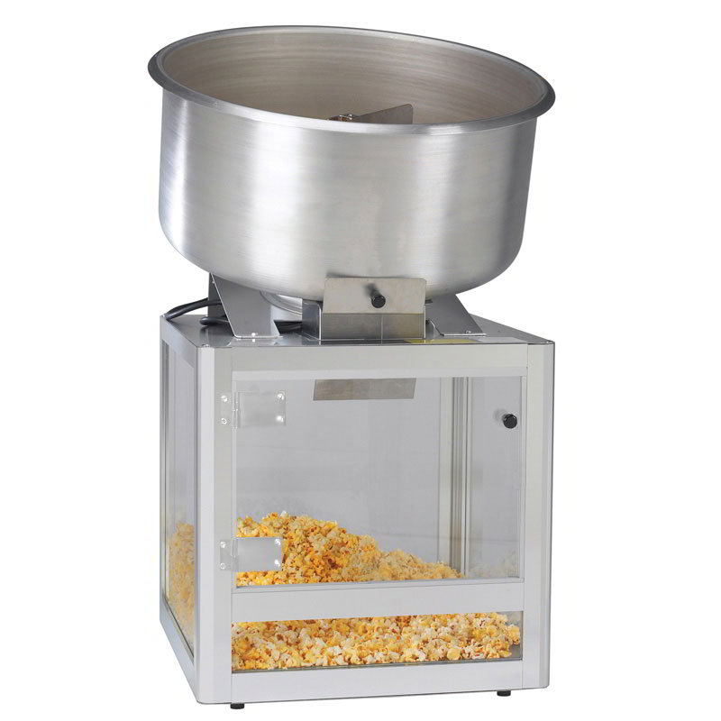"Gold Medal 2346 20"" Countertop Cheddar Easy Shop Combo Mixer Display w/ Slide Door"