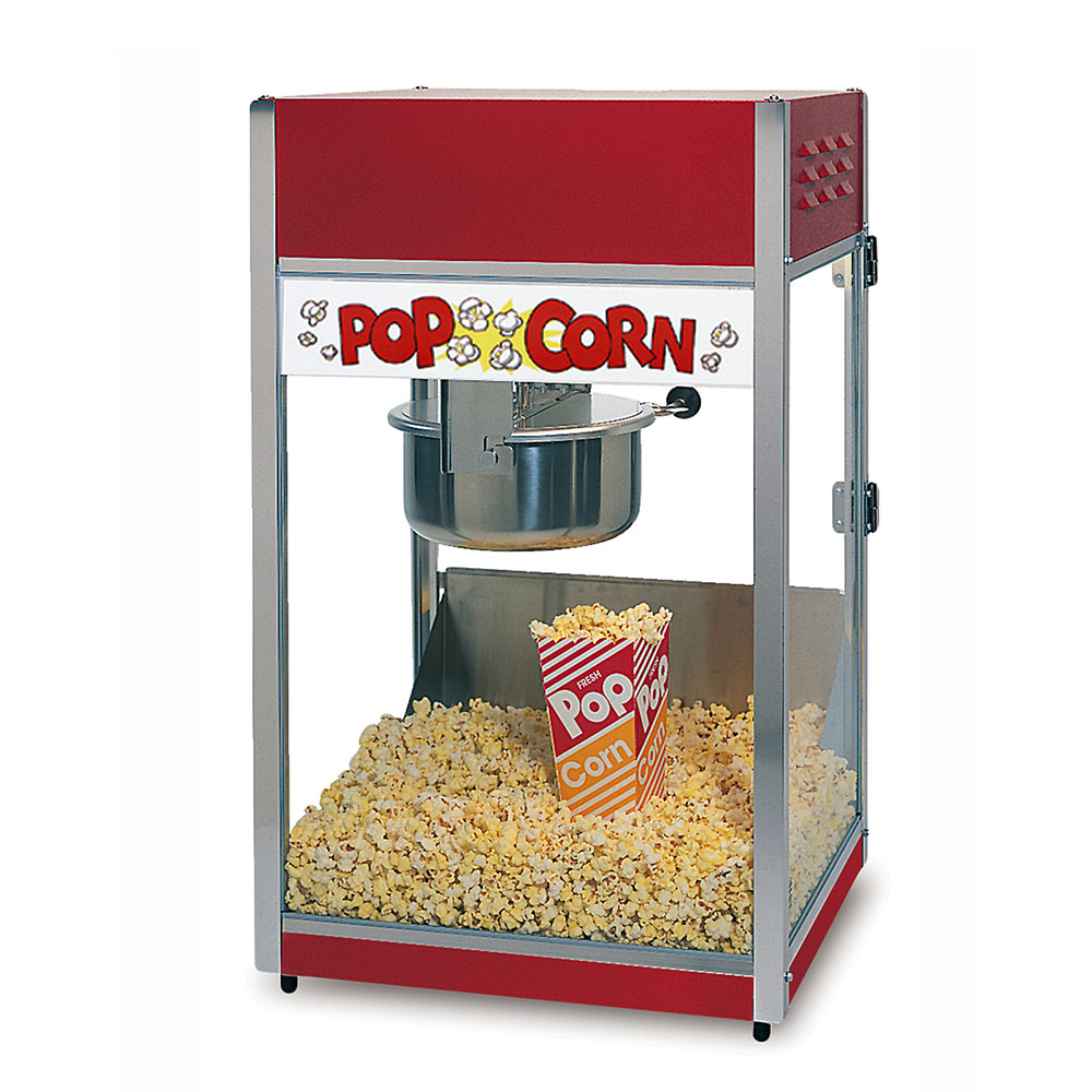 Gold Medal 2388 120240 Special 88 Popcorn Machine w/ 8-oz Kettle & Red Steel Dome, 120/240V