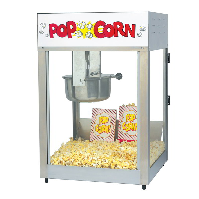 Gold Medal 2389 120208 Lil Max Popcorn Machine w/ 8-oz Kettle & Stainless Dome, 120/208V