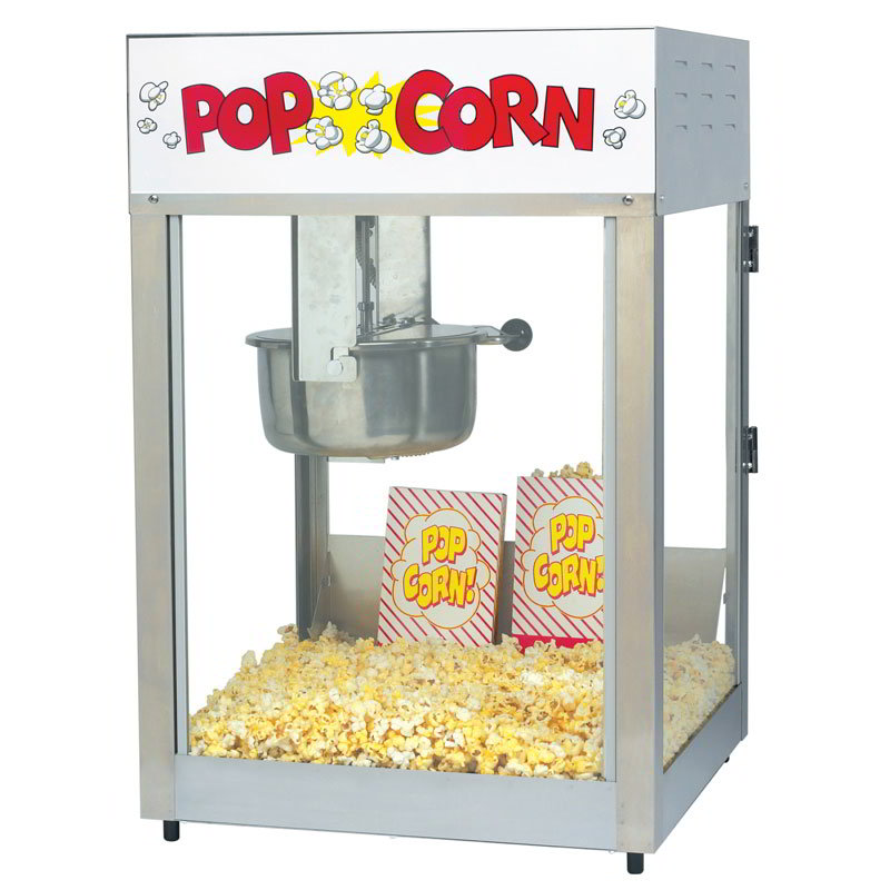 Gold Medal 2389 Lil Max Popcorn Machine w/ 8-oz Kettle & Stainless Dome, 120v