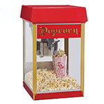 Gold Medal 2404 120208 FunPop Popcorn Machine w/ 4-oz EZ Kleen Kettle & Red Dome, 120/208V