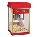 Gold Medal 2404 120240 FunPop Popcorn Machine w/ 4-oz EZ Kleen Kettle & Red Dome, 120/240V