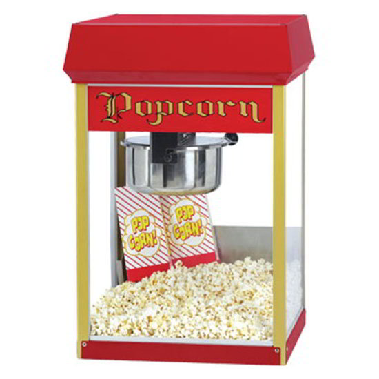 Gold Medal 2408 120208 FunPop Popcorn Machine w/ 8-oz EZ Kleen Kettle & Red Dome, 120/208V