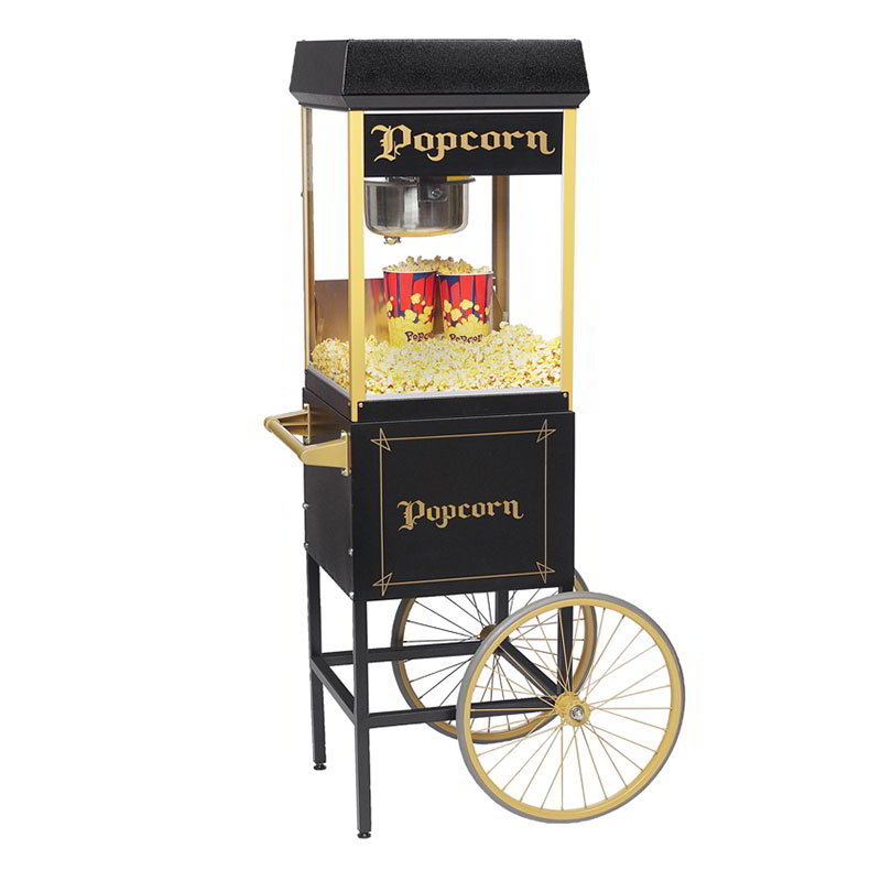 Gold Medal 2408BKG 120208 FunPop Popcorn Machine w/ 8-oz EZ Kleen Kettle & Black & Gold Finish, 120/208V