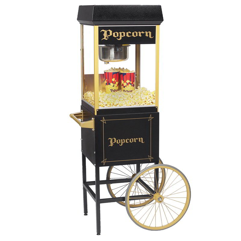 Gold Medal 2408BKG FunPop Popcorn Machine w/ 8-oz EZ Kleen Kettle & Black & Gold Finish, 120v
