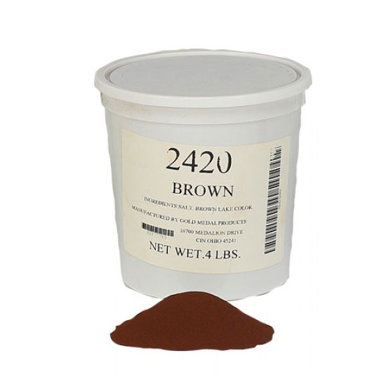 Gold Medal 2420 4-lb Tub Color-Pop Salt, Brown