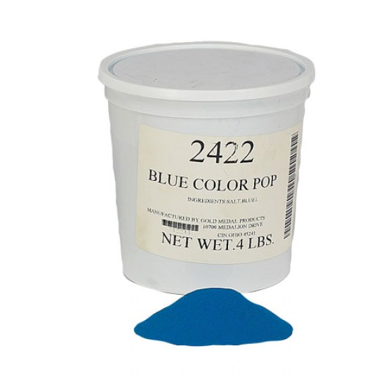 Gold Medal 2422 4-lb Tub Color-Pop Salt, Blue