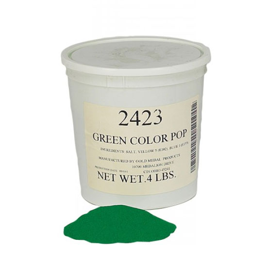 Gold Medal 2423 4-lb Green Color Pop Salt