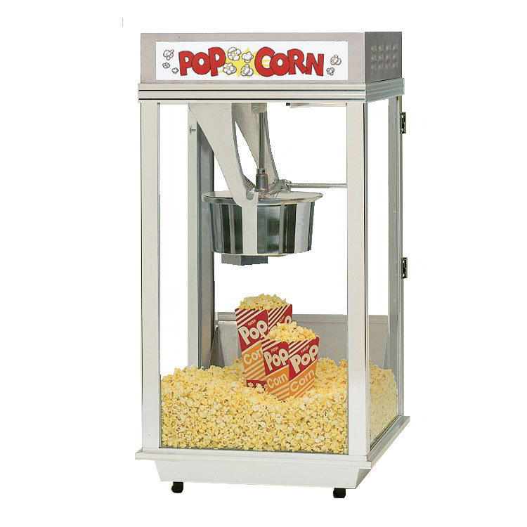 Gold Medal 2452 120208 Ultimate Bronco Popcorn Machine w/ 8-oz EZ Kleen Kettle & Stainless Dome, 120/208V