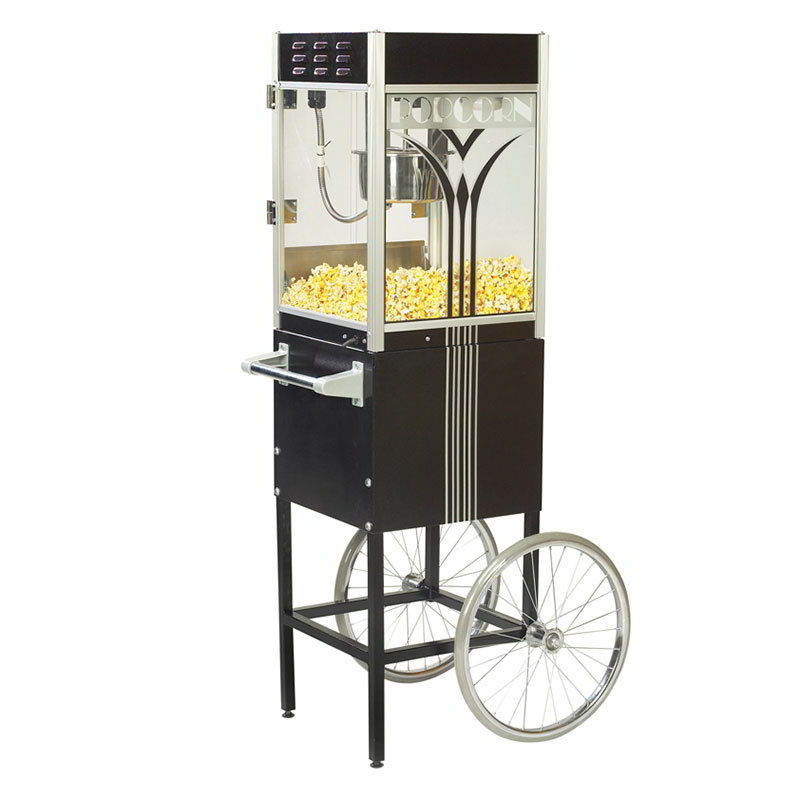 Gold Medal 2454 120208 Retro Popcorn Machine w/ 4-oz EZ Kleen Kettle & Black Dome, 120/208V