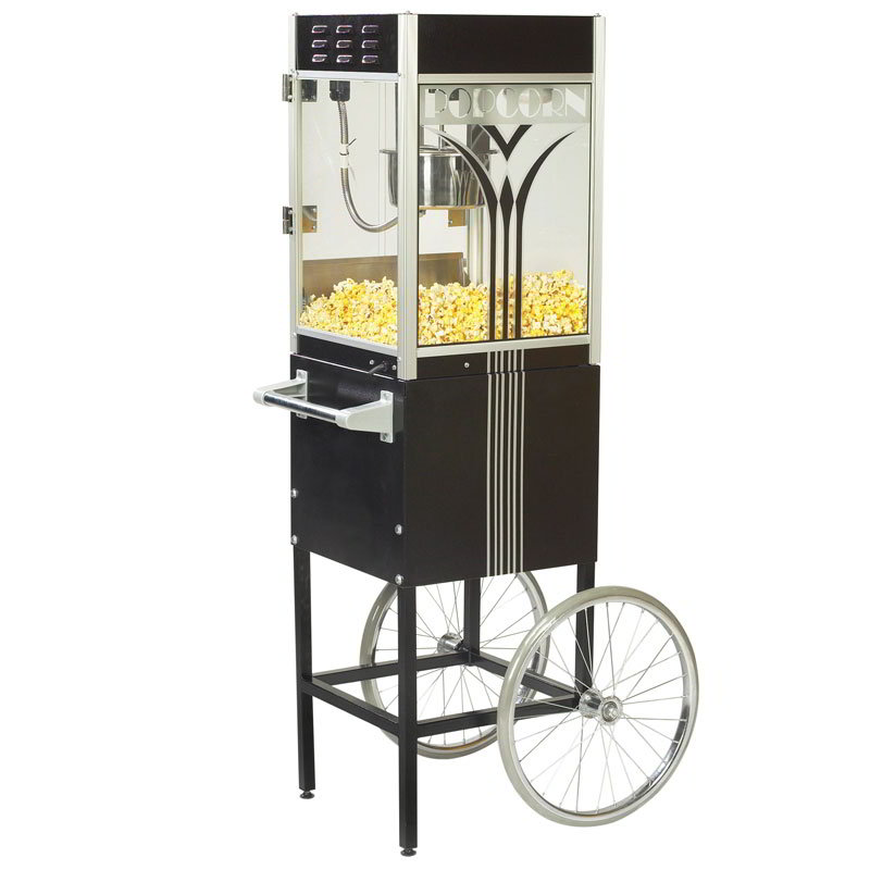 Gold Medal 2454 120240 Retro Popcorn Machine w/ 4-oz EZ Kleen Kettle & Black Dome, 120/240V