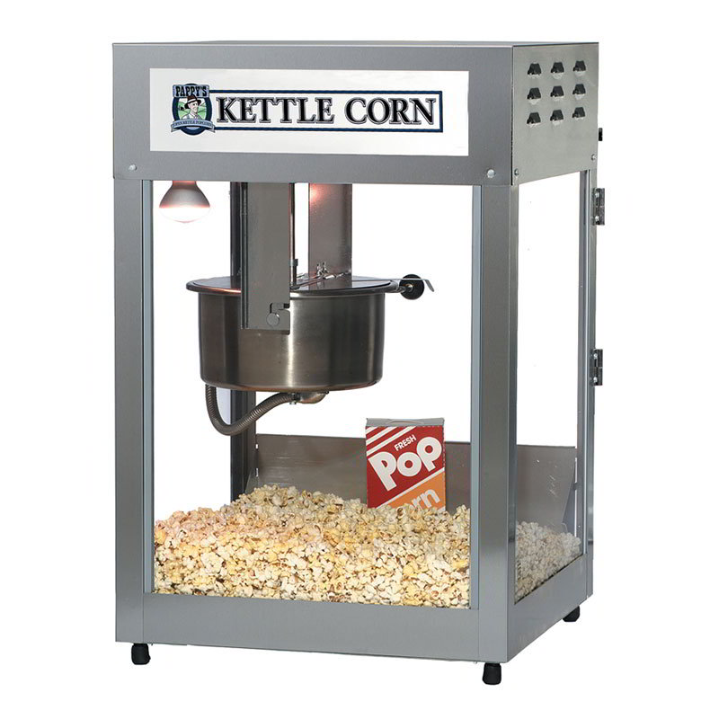 Gold Medal 2552KC Kettle Corn Pop Maxx Popcorn Machine, 12/14-oz Kettle, Stainless Dome, 120/208v