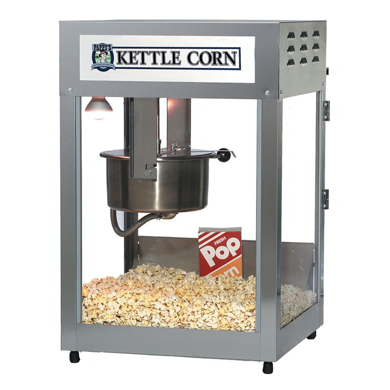 Gold Medal 2552KC 120240 Kettle Corn Pop Maxx Popcorn Machine, 12/14 oz Kettle, Stainless Dome, 120v