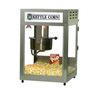 Gold Medal 2552KC 120240 Kettle Corn Pop Maxx Popcorn Machine, 12/14 oz Kettle, Stainless Dome, 120/240 V