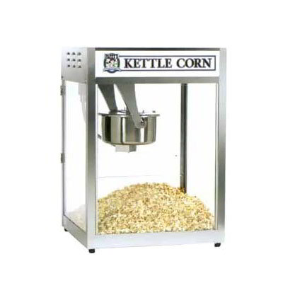 Gold Medal 2553 Popcorn Machine, 16/18-oz EZ Kleen Kettle, Oil Pre-Wired, 120v