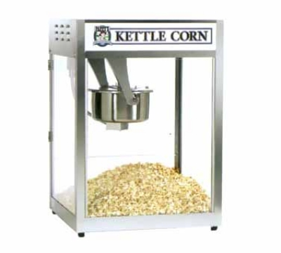 Gold Medal 2554 120240 Front Counter Popcorn Machine, 16/18-oz EZ Kleen Kettle, 120/240 V