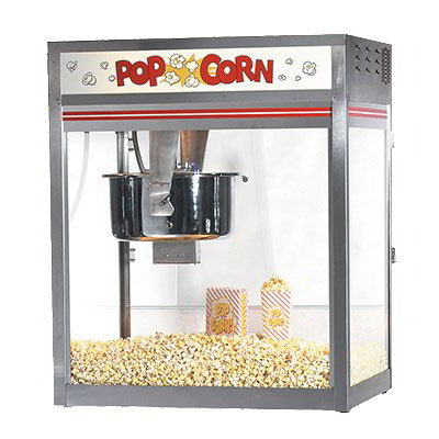 Gold Medal 2557 120208 32-oz Discovery Popcorn Popper w/ Non-Reversible Dome, Back Counter, 120/208V