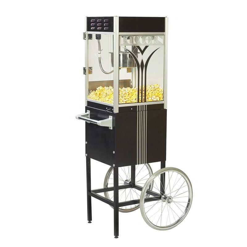 Gold Medal 2649RT Fun Pop Cart for 4-oz Popper w/ Storage Compartment & 2-Spoke Wheels, Retro