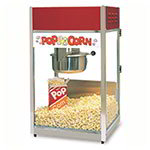 Gold Medal 2656 Ultra-60 Special Popcorn Machine w/ 6-oz EZ Kleen Kettle & Red Dome, 120v