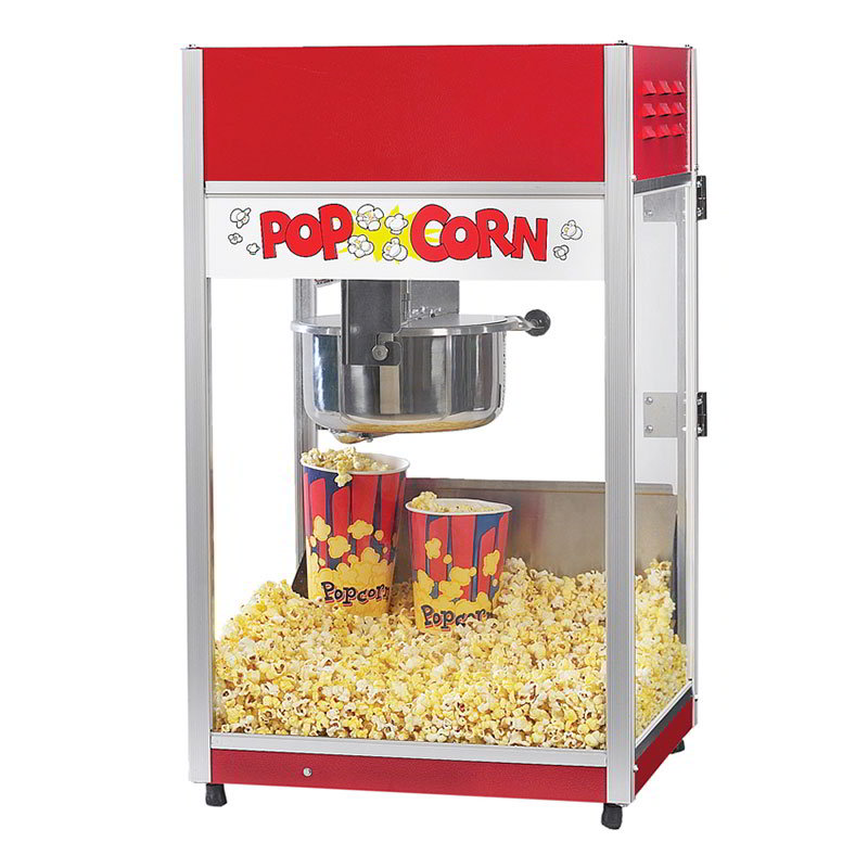 Gold Medal 2656CT 120240 Total Pop Popcorn Machine w/ 6-oz EZ Kleen Kettle & Ready Light, 120/240V