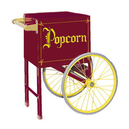 Gold Medal 2659CM Popcorn Cart w/ 2-Spoke W