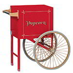 Gold Medal 2659CR Popcorn Cart, 18 W x 16 D x 31 H, 2 Spoke Wheels, Red Exterior