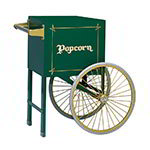 Gold Medal 2659HG Popcorn Cart w/ 2-Spoke Wheels, Hunter Green