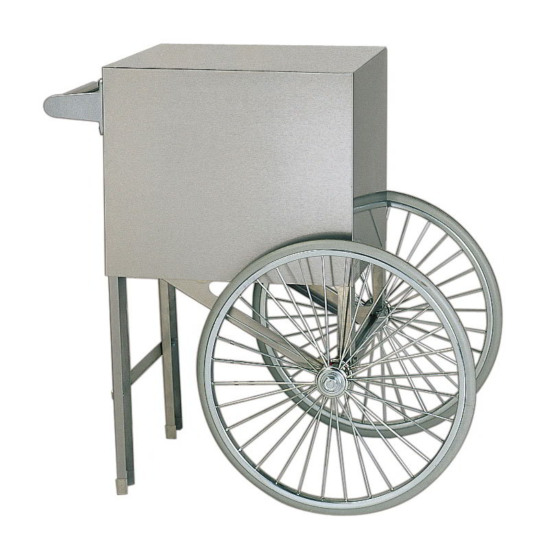 Gold Medal 2659ST Popcorn Cart w/ 2-Spoke Wheels, Stainless