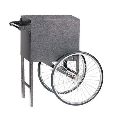 Gold Medal 2659SV Popcorn Cart w/ 2-Spoke Wheels, Silver Vane